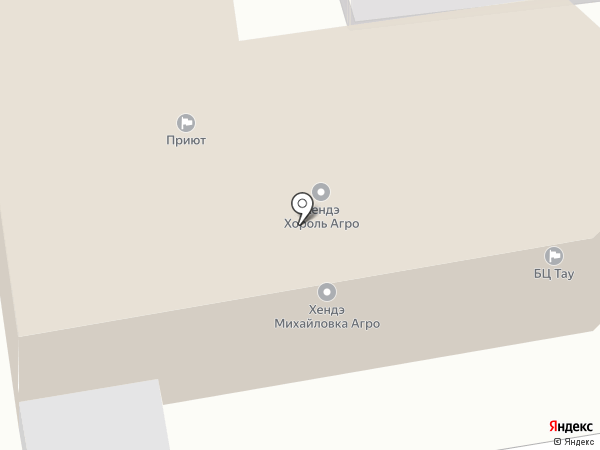 Тау на карте Уссурийска