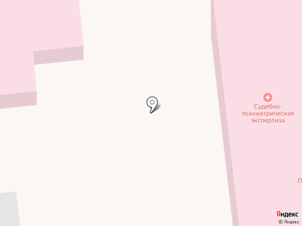 Психиатрическая больница №1 на карте Уссурийска