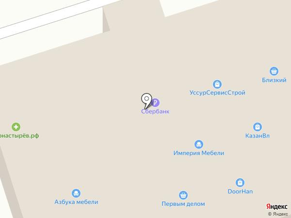 Банкомат, АКБ РОСБАНК на карте Уссурийска