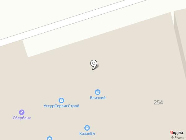 Блин стоп на карте Уссурийска