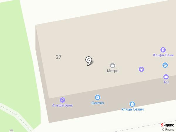 Стрела на карте Уссурийска
