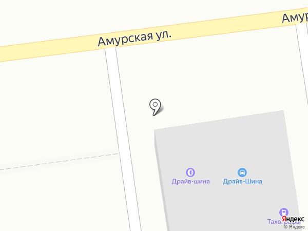 Драйв-шина на карте Уссурийска