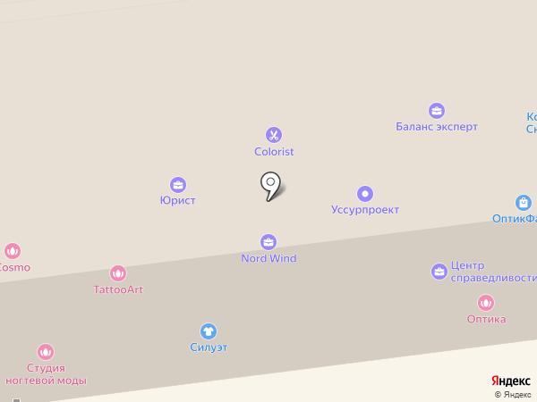 Дизайн-студия мебели на карте Уссурийска