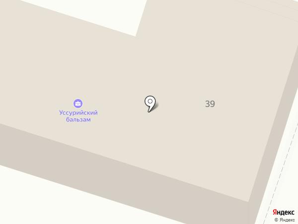 Уссурийский бальзам на карте Уссурийска