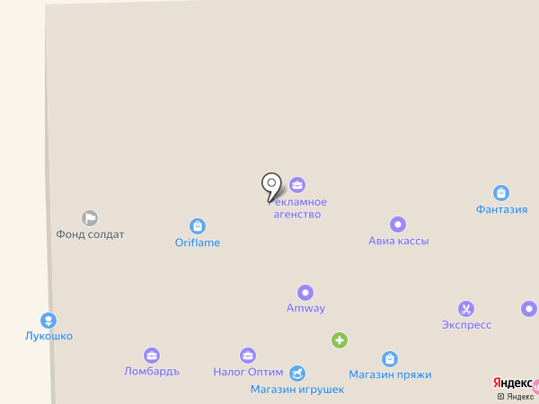 Глорион на карте Уссурийска