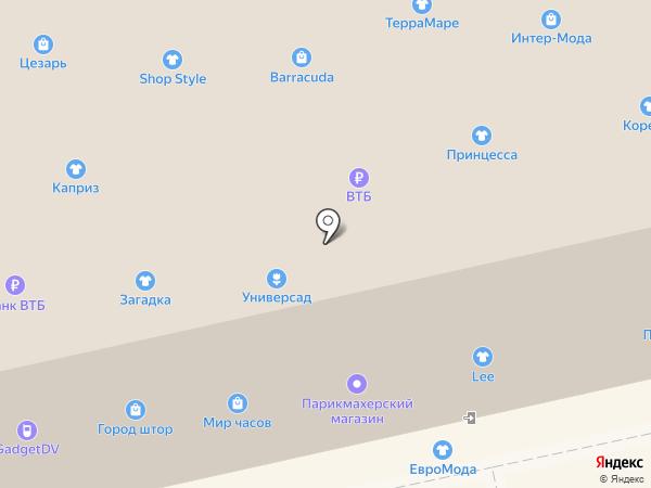 Кореана на карте Уссурийска