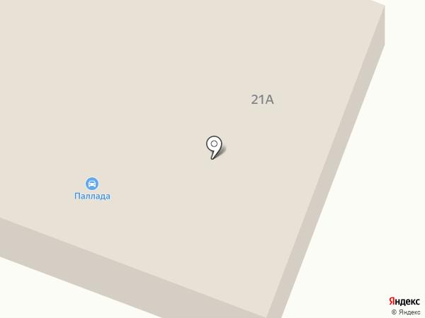 Паллада на карте Уссурийска