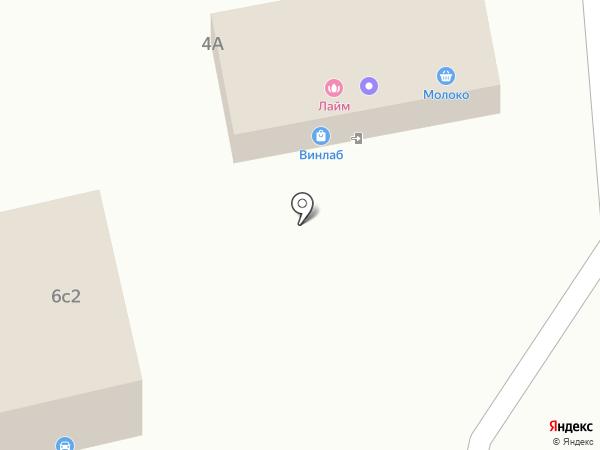 Магазин молочных продуктов на карте Нового