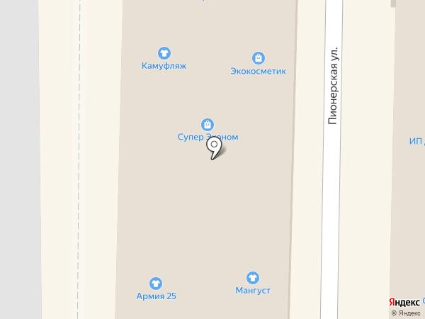 Мегатур на карте Артёма