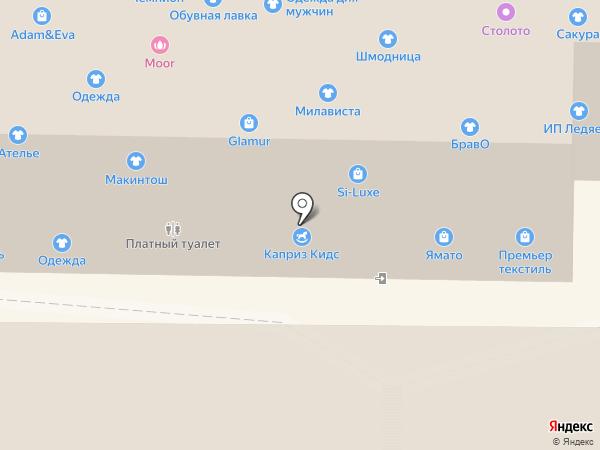 Магазин женской одежды и обуви на карте Артёма