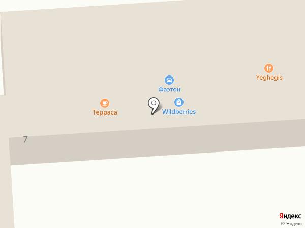 Фаэтон на карте Находки