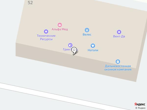 Автостоянка на Владивостокской на карте Находки