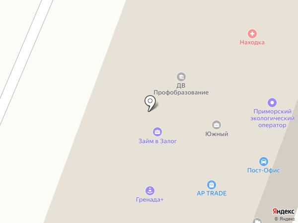 Центральная городская аптека, МУП на карте Находки