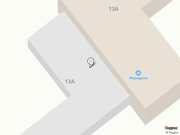 Меридиан на карте Находки