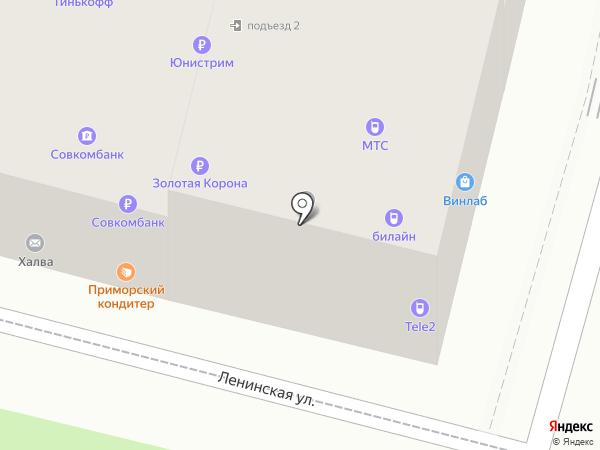 Миницен на карте Находки