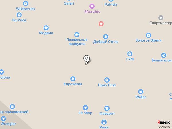 Перламутр на карте Находки