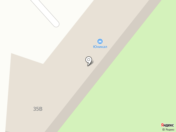 Юникал на карте Находки