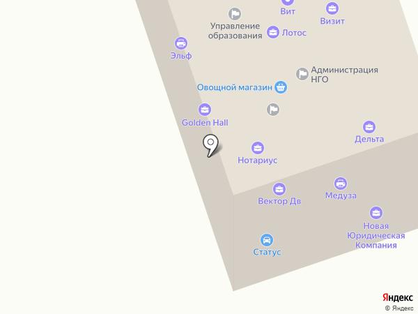 Вектор-ДВ на карте Находки