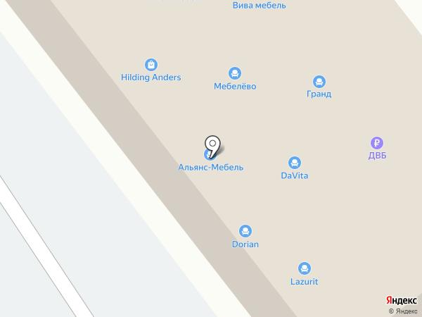 АСМ на карте Находки