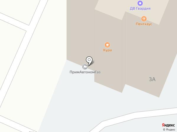 Крона ДВ на карте Находки