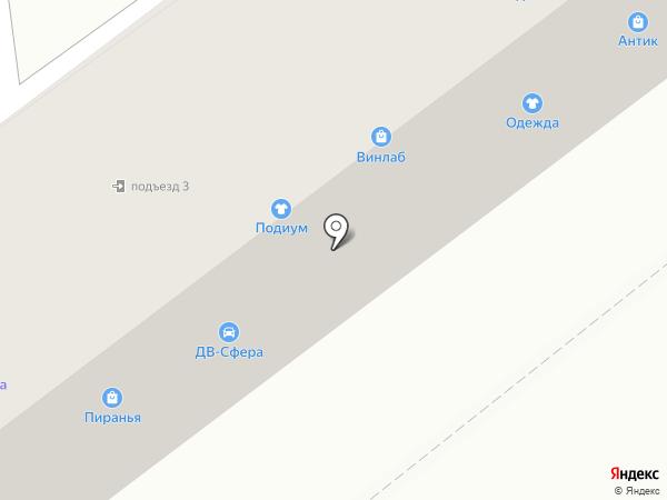Контур на карте Находки
