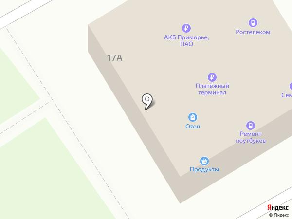 Платежный терминал, АКБ Приморье, ПАО на карте Находки
