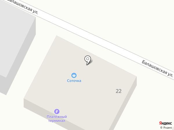 Соточка на карте Хабаровска