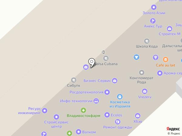 Юдримс на карте Хабаровска