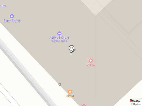 МукА на карте Хабаровска