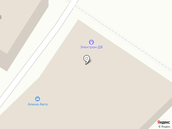 Алина-Авто на карте Хабаровска