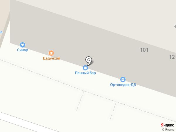 Пенный на карте Хабаровска