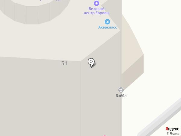 Аквакласс на карте Хабаровска
