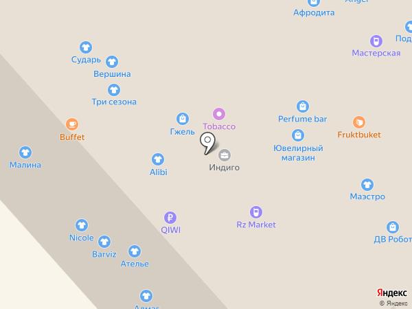 Бутик женской верхней одежды на ул. Шеронова на карте Хабаровска