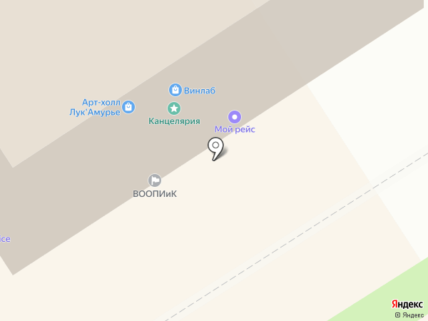 Булка на карте Хабаровска