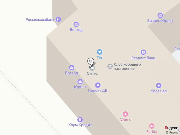 Годограф на карте Хабаровска