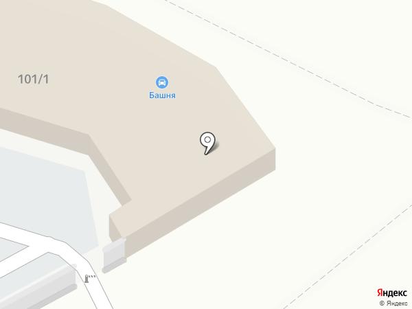 Башня на карте Хабаровска