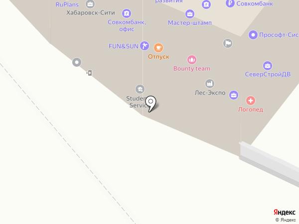 Positum 705 на карте Хабаровска