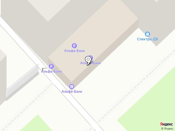 Альфа-банк на карте Хабаровска