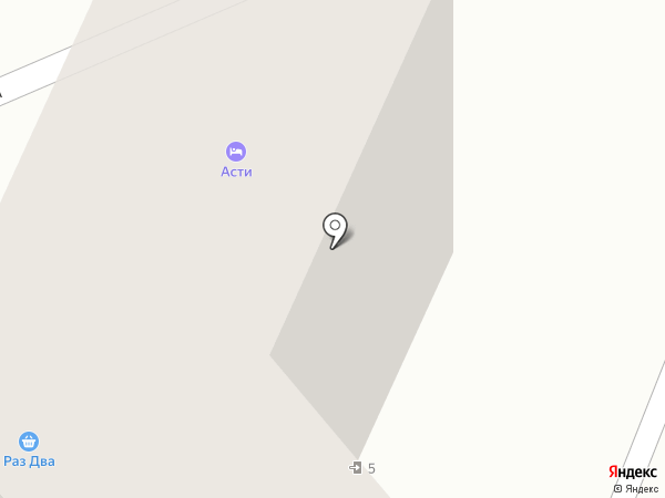 Асти на карте Хабаровска