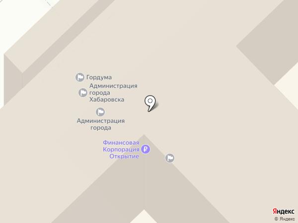 Адвокат Смирнов С.А. на карте Хабаровска