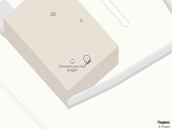 Хабаровская канцелярия Генерального консульства Корейской Народно-Демократической Республики на карте Хабаровска
