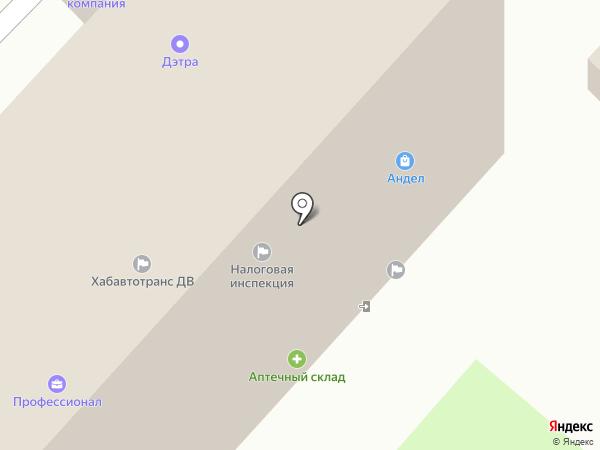 Нева на карте Хабаровска