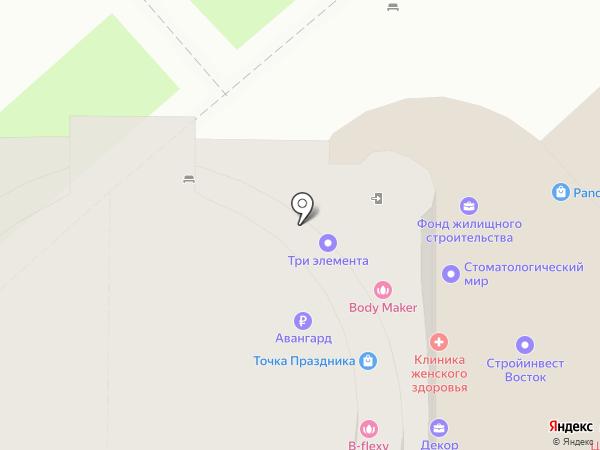 Сакура на карте Хабаровска