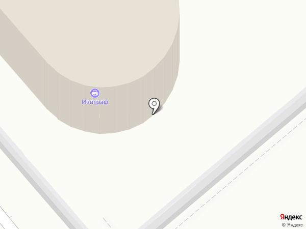Изограф ДВ на карте Хабаровска
