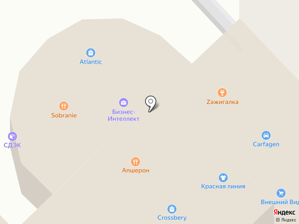 Акватик на карте Хабаровска