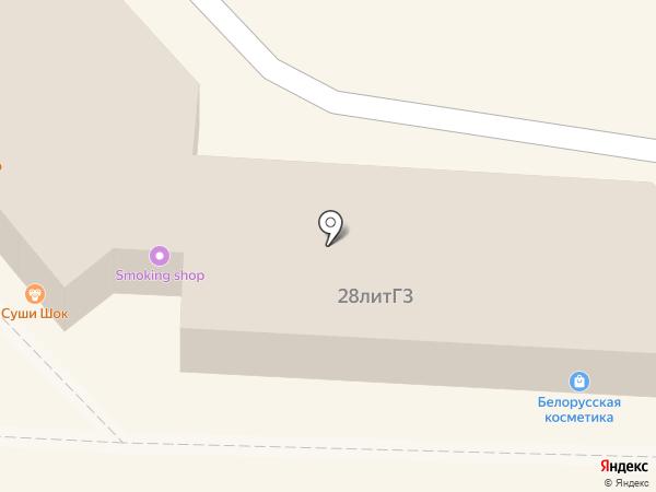 Клубничка на карте Хабаровска