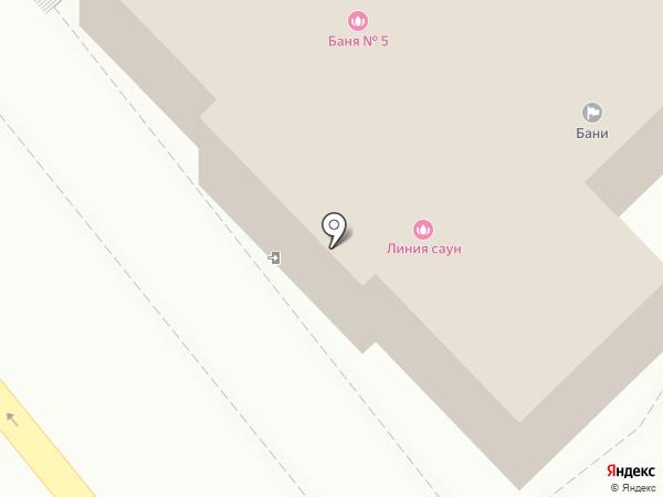 Линия саун на карте Хабаровска