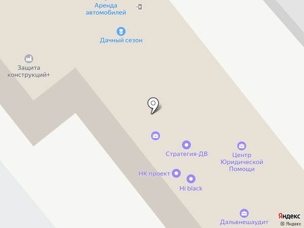 Росокна на карте Хабаровска