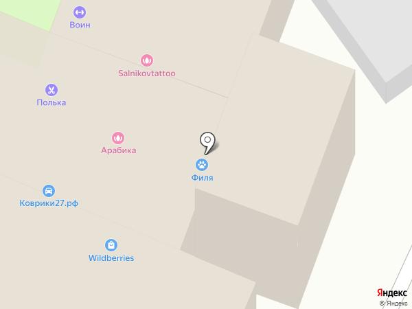 Бамбо на карте Хабаровска