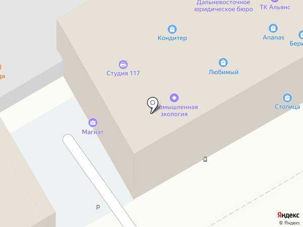 Малышок на карте Хабаровска